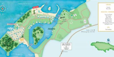 Mapa de xamaica resorts